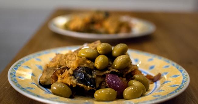 färdig linser med aubergine
