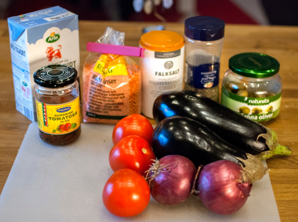 ingredienser linser o aubergine
