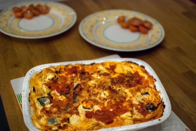 färdig lasagne i form