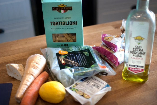 ingredienser halloumipasta