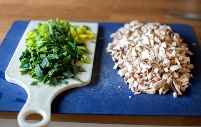 veckansvego fylld paprika hackade ingredienser