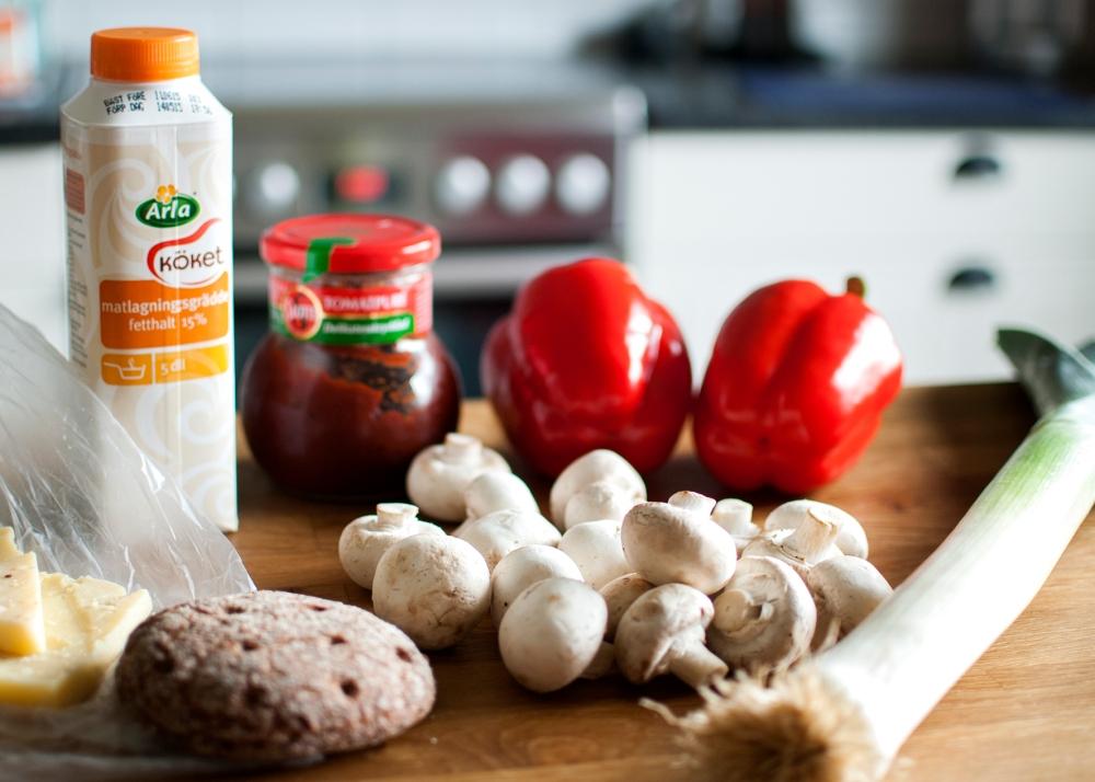 veckansvego fylld paprika ingredienser