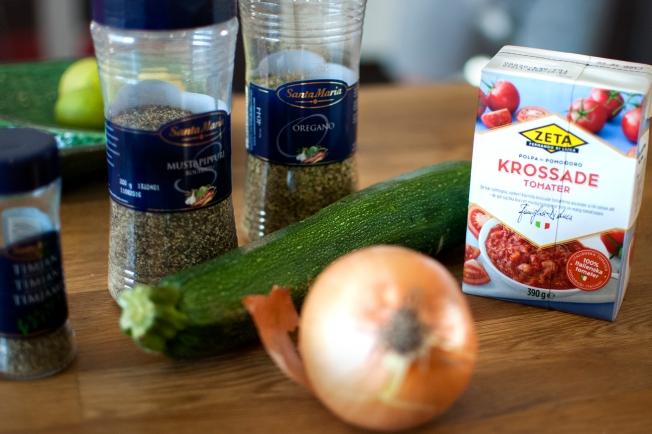 zucchinipasta ingredienser