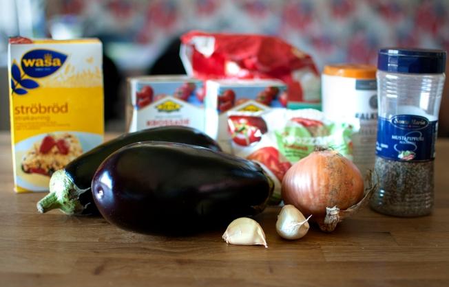 veckansvego auberginegratäng ingredienser