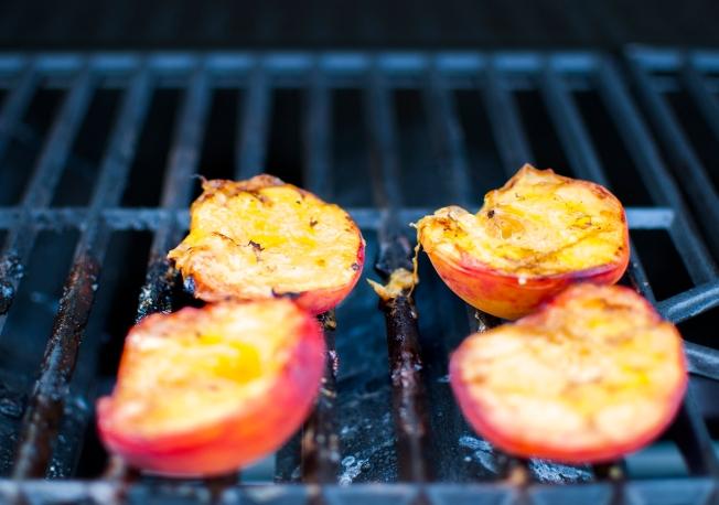 veckansvego grillad persika