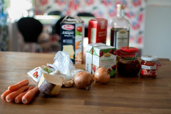 veckansvego ingredienser grön lasagne