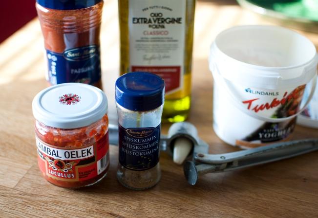 veckansvego ingredienser till sås