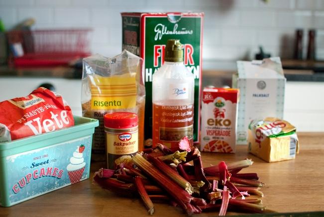 veckansvego ingredienser rabarberpaj