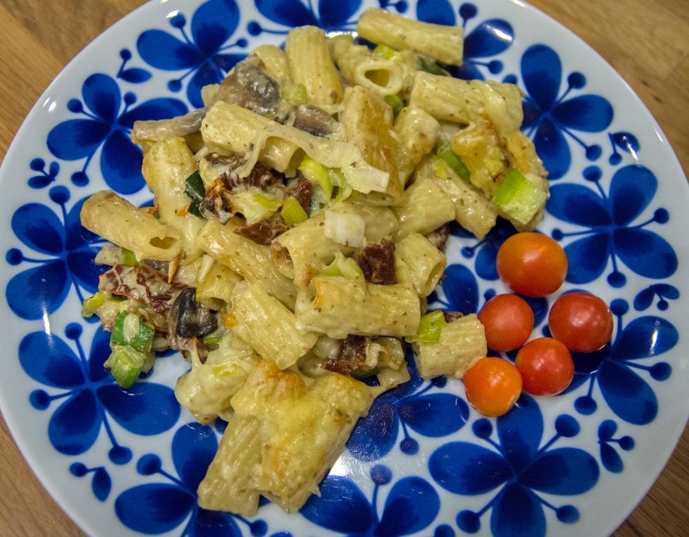 veckansvego färdig italiensk pastagratäng