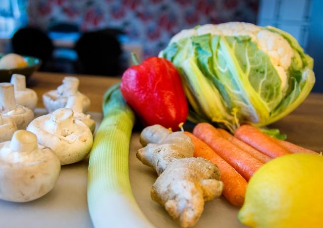 veckansvego ingredienser blomkålsris med japanska grönsaker