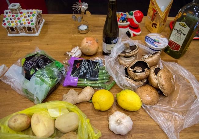 veckansvego ingredienser portabello med potatispure