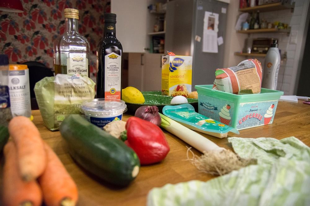 veckansvego ingredienser panerad zucchini
