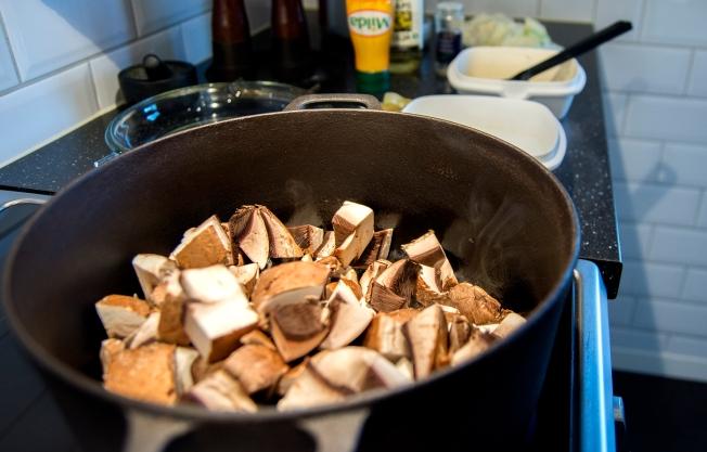 veckansvego stek i omgångar