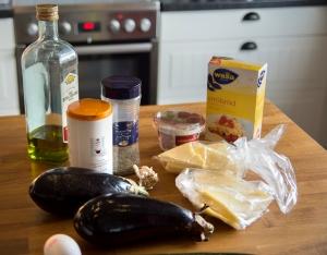 veckansvego ingredienser gratinerad aubergine