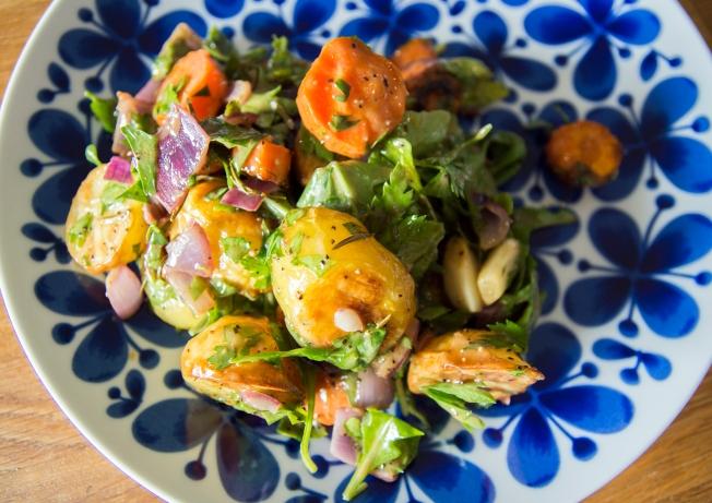 veckansvego färdig fransk-italiensk potatissallad