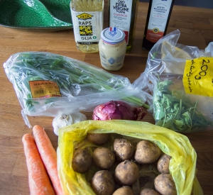 veckansvego ingredienser fransk-italiensk potatissallad