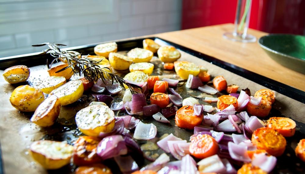 veckansvego svalnande fransk-italiensk potatissallad