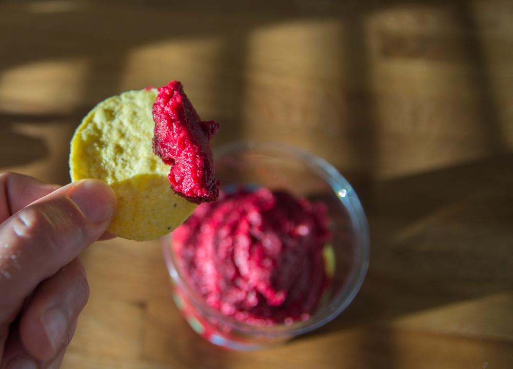 veckansvego färdig blodröd hummus