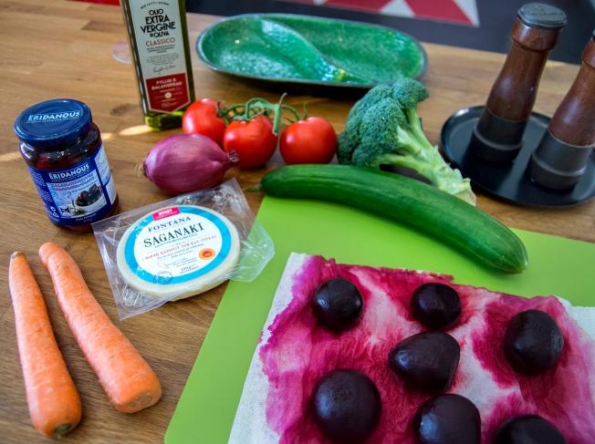 veckansvego ingredienser grekish sallad