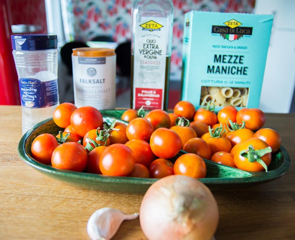veckansvego ingredienser pasta pronto