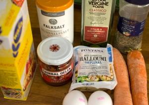 veckansvego-ingredienser-morots-och-halloumibiffar