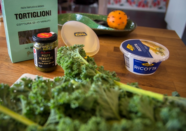 veckansvego-ingredienser-pasta-med-gronkal